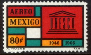 MEXICO C321, 20th Anniversary UNESCO Perf. 11. MINT, NH. F-VF.