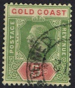 GOLD COAST 1913 KGV 5/- ON WHITE BACK DIE I WMK MULTI CROWN CA USED
