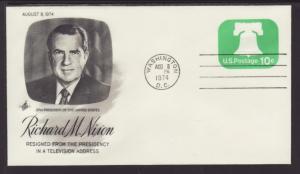 Nixon Resigns Aug 8,1974 Artcraft U/A Cover