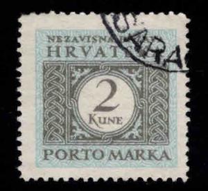 Croatia Scott J13 Used postage due stamp