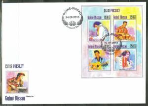 GUINEA BISSAU 2013 ELVIS PRESLEY SHEET FIRST DAY COVER