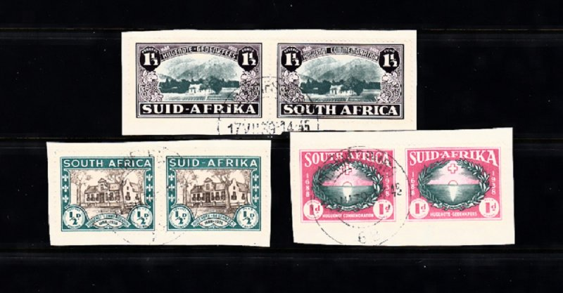 SOUTH AFRICA SC# B9-B11 PAIR USED - SALE TO A USA ADDRESS ONLY