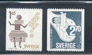 Sweden Sc 1460-1 1983 Europa stamp set mint NH
