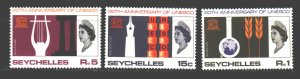 Seychelles. 1966. 232-34. 20 years of UNESCO. MNH.