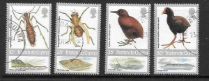 TRISTAN DA CUNHA SG422/5 1987 INSECTS & BIRDS FINE USED