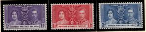 British Solomon Islands Stamp Scott #64-66, Mint Very Lightly Hinged - Free U...