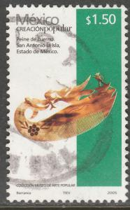 MEXICO 2490, $1.50P HANDCRAFTS 2005 ISSUE. USED. F-VF. (1503)