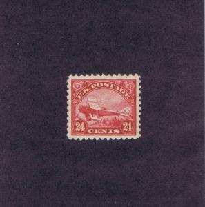 SCOTTS# C6 UNUSED OG NH 24c DEHAVILAND BIPLANE, 1923, GRADE 95, PSAG CERT.