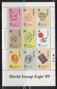 Lesotho 740 World Stamp Expo 89 Mint NH