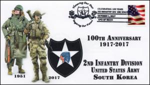 17-351, 2017, 2nd Infantry Div., South Korea,  Pictorial, Event Cover, U.S. Army