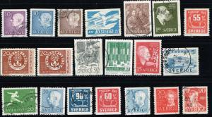 Sweden MiniLOT 20 All Different Used
