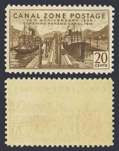 Panama Canal Zone 133,hinged. Canal-25,1939.Pedro Miguel Locks,before.Ships.