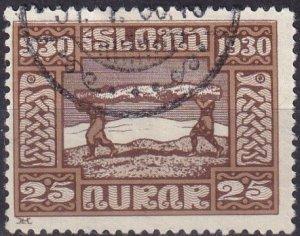 Iceland #158 F-VF Used CV $15.00 (Z6467)