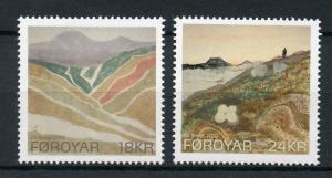 Faroes Faroe Islands 2010 MNH Landscape Paintings Eli Smith 2v Set Art Stamps