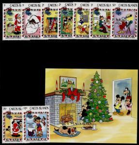 Caicos Islands 22-31 MNH Disney, Christmas, Santa