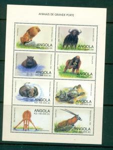 Angola - Sc# 1027. 1998 Wild Animals. MNH Sheet. $12.00.