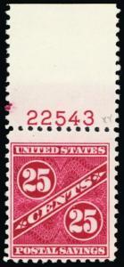 PS8, Mint NH 25¢ RARE Postal Savings Stamp With PL# -- Stuart Katz