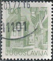 Yugoslavia 1246 (used) 1d street scene, Ohrid (1976)