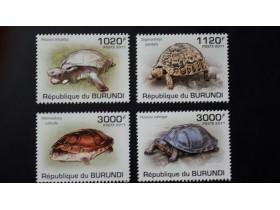 Burundi 2011. - Turtles ** MNH complete set (perforated)
