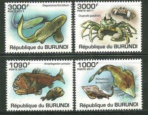 Burundi MNH 892-5 Prehistoric Marine Life 2011 SCV 13.50