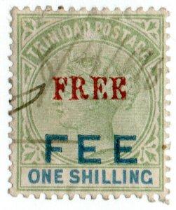 (I.B) Trinidad & Tobago Revenue : Free Fee 1/- (1887)