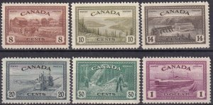 Canada #268-73 F-VF Unused CV $73.00  (Z7976)