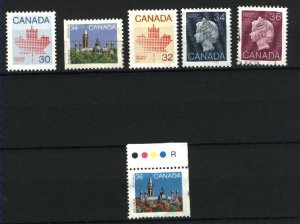 Can #923-24,925asi,926-26A,926Bcs  used VF  PD