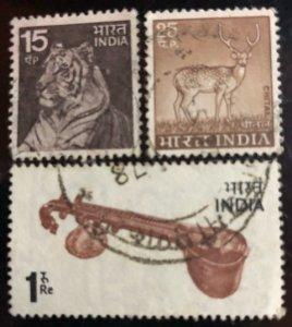 India Scott#622-624 F/VF Used Cat. $2.00