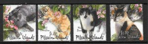 PITCAIRN ISLANDS SG618/21 2002 CATS FINE USED