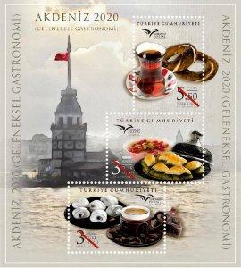 TURKEY / 2020 - EUROMED 2020 Gastronomy (Cofee, Desert), MNH