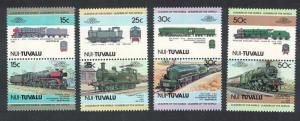 Tuvalu Nui Locomotives 8v pairs 1 series SC#5=16