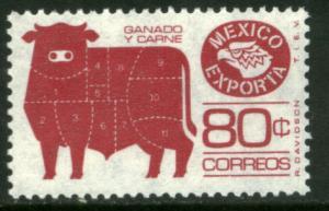 MEXICO Exporta 1113d, 80c Cattle Unwmk Perf 11 1/2 Paper 3. MINT, NH. VF.