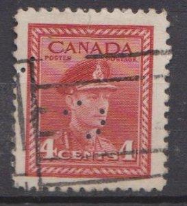 Canada Sc#254 Used - perfin