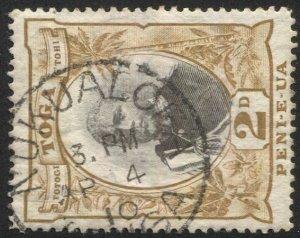 TONGA 1897 Sc 42, Used  VF 2d George II, SOTN  NUKUALOFA postmark cancel