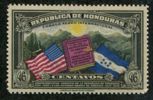Honduras SC# C84  US & Hondarian Flag 46c MNH