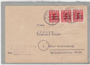 Germany Soviet Zone 1948 Nordhause to Lichtenberg stamps cover  R20741