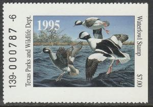 U.S.-TEXAS 15, STATE DUCK HUNTING PERMIT STAMP. MINT, NH. VF
