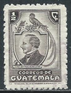 Guatemala, Sc #316, 1/2c Used