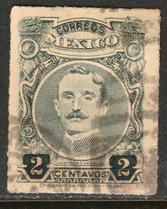MEXICO 610, 2cents ROULETTED, USED. F-VF.. (331)