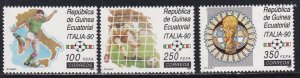 Equatorial Guinea #  143-145, World Cup Soccer, NH, 1/2 Cat.