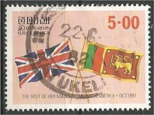 SRI LANKA, 1981, used 5r, Flags Scott 619