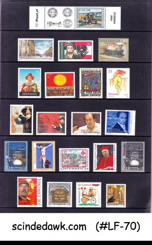 AUSTRIA - 2004 COMPLETE YEAR ISSUE IN A SPECIAL FOLDER (with CRYSTAL M/S)