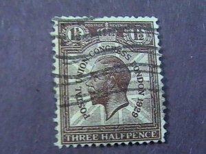 GREAT BRITAIN # 207a----USED----WATERMARK SIDEWAYS-----1929
