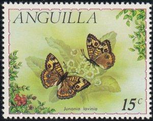 Anguilla 1971 MH Sc #124 15c Junonia lavinia Butterflies