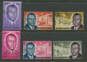 STAMP STATION PERTH Burundi #B1-B6 Overprint FU CV$3.00