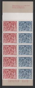 Sweden Sc 1148a 1975 Christmas stamp bklt of 10 mint NH
