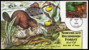 Collins Handpainted FDC Northeast Decidious Forest: Red Eft (3/3/2005)