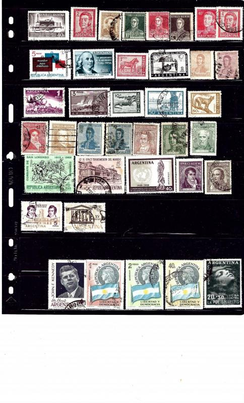 Argentina #3 39 diff mostly used stamps