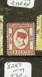 LABUAN (P2907B) QV 8C CAMEO KISS PRINT  SG7  MOG