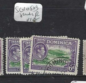 DOMINICA (PP1903B)  KGVI  6 D  SG 105B   X 3   SHADES       VFU